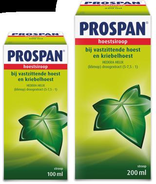 Prospan hoestsiroop in fles past in elk huishouden